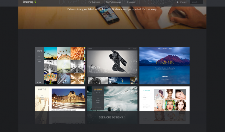Smugmug review customizable design unlimited storage for Smugmug templates